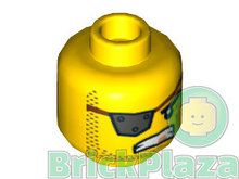 LEGO Hoofd Man met Ooglapje geel 16123 - 6057824
