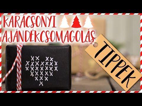 Karácsonyi ajándékcsomagolás TIPPEK   INSPIRÁCIÓK Csorba Anitától - YouTube