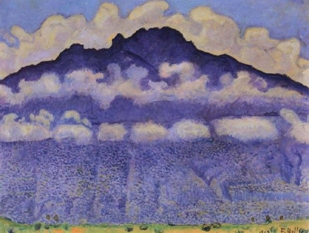 Ferdinand Hodler, La pointe d'Andey, vallée de l'Arve , 1909, Musée d'Orsay