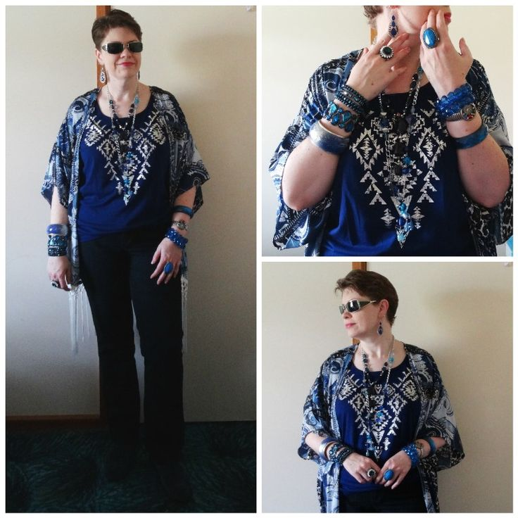 JDS - MY STYLE: Kmart top, ebay kimono, all details at jeweldivasstyle.com/my-style-october-style/