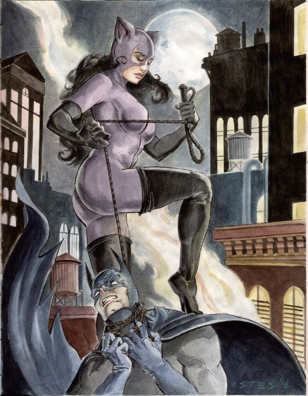 Batman and Catwoman by JohnEstes