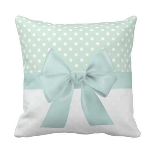 Shabby Chic Girly Ribbon Throw Pillows