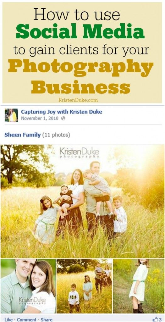 How to Use Social Media to gain Clients with your Photography Business | Pinterest | Photography business, Gain and Business