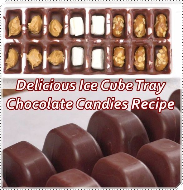 """Delicious Ice Cube Tray Chocolate Candies Recipe Homesteading  - The Homestead Survival .Com     """"Please Share This Pin"""""""