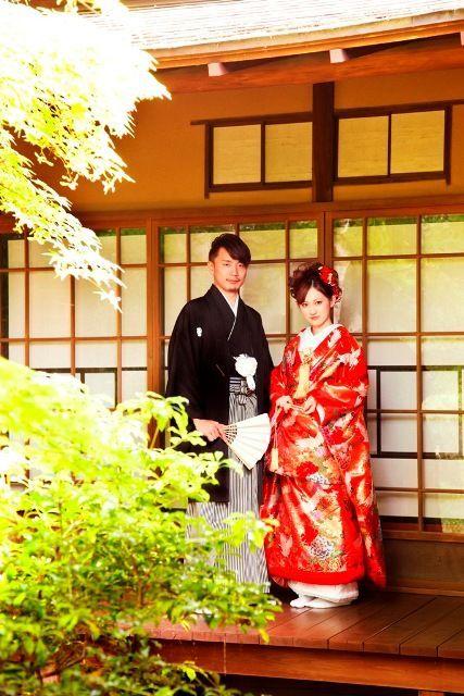 和装のウェディングフォトのアイデア♪結婚式に着たい新郎の袴姿。ウェディング・ブライダルの参考に。