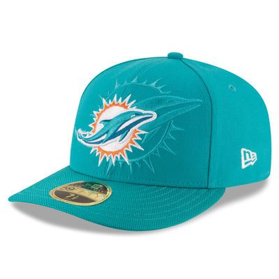 Miami Dolphins New Era 2016 Sideline Official Low Profile 59FIFTY Fitted Hat - Aqua