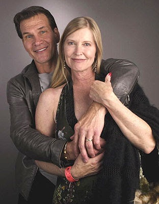 Patrick Swayze with his wife Lisa Niemi. Married 34 years, 1975 until his death in 2009.
