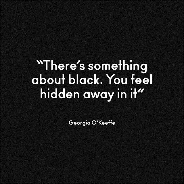 Georgia O'Keeffe on black