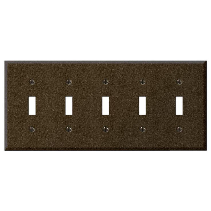 Creative Accents Steel 5 Toggle Wall Plate - Bronze-9TBZ105 at The Home Depot