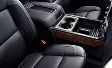 Perforated leather-appointed seating inside the 2016 GMC Sierra 1500 Luxury Pickup Truck is designed to provide comfort and ventilation.