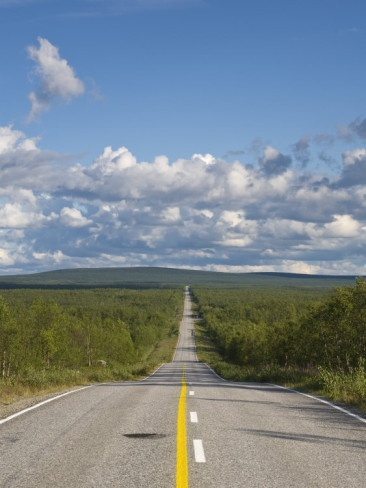 Arctic Road toward Kilpisjärvi, Lapland