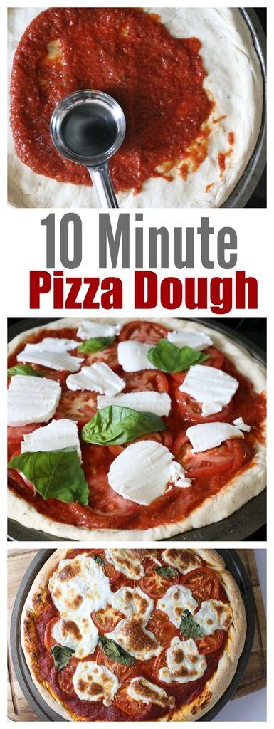 10 Minute Homemade Pizza Dough