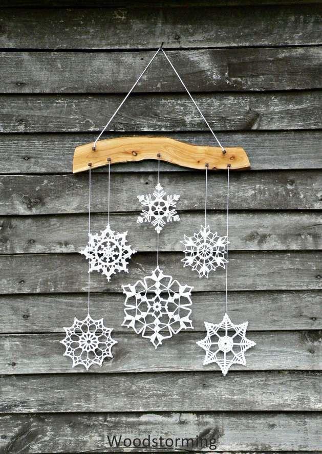 Flocons de neige en décoration