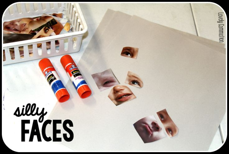 Help your preschool children put together silly faces in an All About Me themed unit! Click over to learn about this activity and other All About Me Preschool Unit ideas!