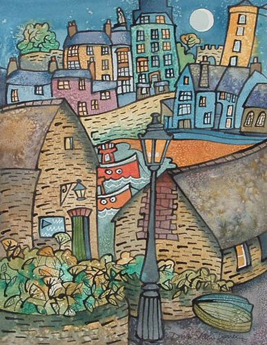 ~ Down the Harbour, Tenby ~  Dorian Spencer Davies ~ lives in Tenby, Wales ~