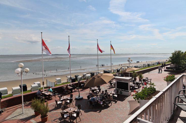 Blick vom Balkon der AKZENT Strandhotels Seestern & Delphin.