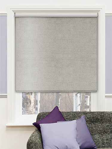 Choices Chenille Argent Roller Blind from Blinds 2go