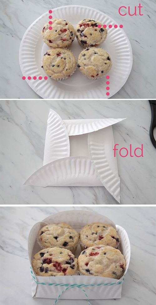 12 Easy And Cool DIY Projects | Inspired Snaps...love the muffin paper plate idea, would be great for cupcakes
