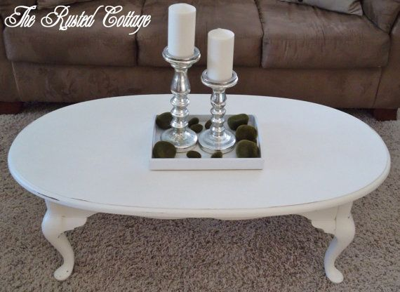 Chalk Paint Oval Coffee Table-SOLD