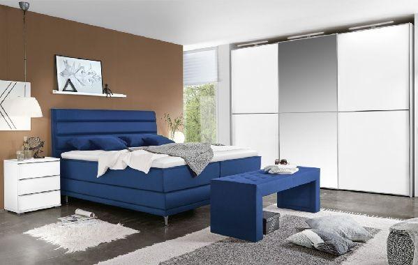 Ole Gunderson Boxspringbett JUWEL Stoffbezug Blau #Schlafzimmer ...
