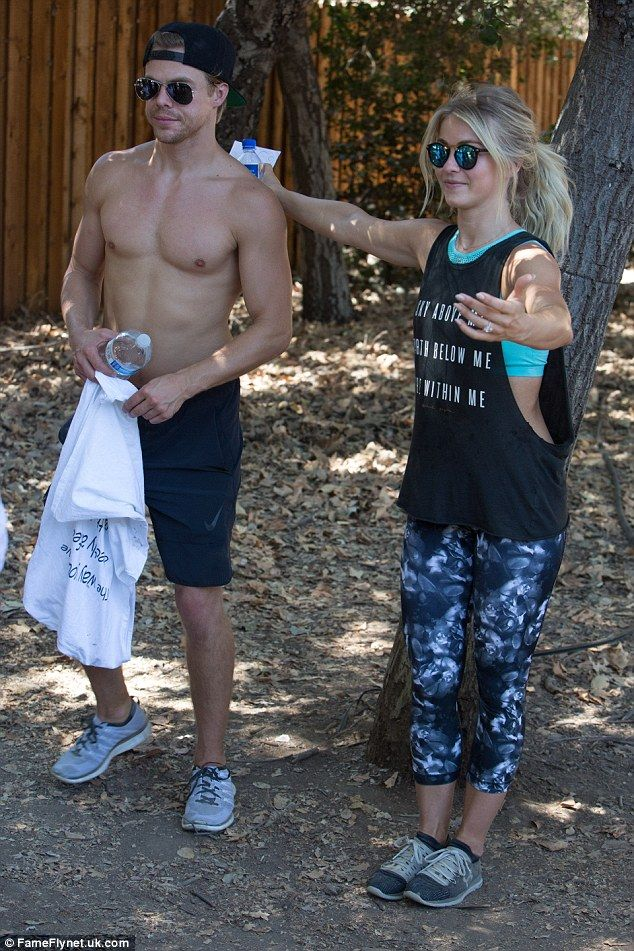 Athletic family: It's no surprise that Julianne and Derek Hough headed out together for a workout on Saturday in Los Angeles