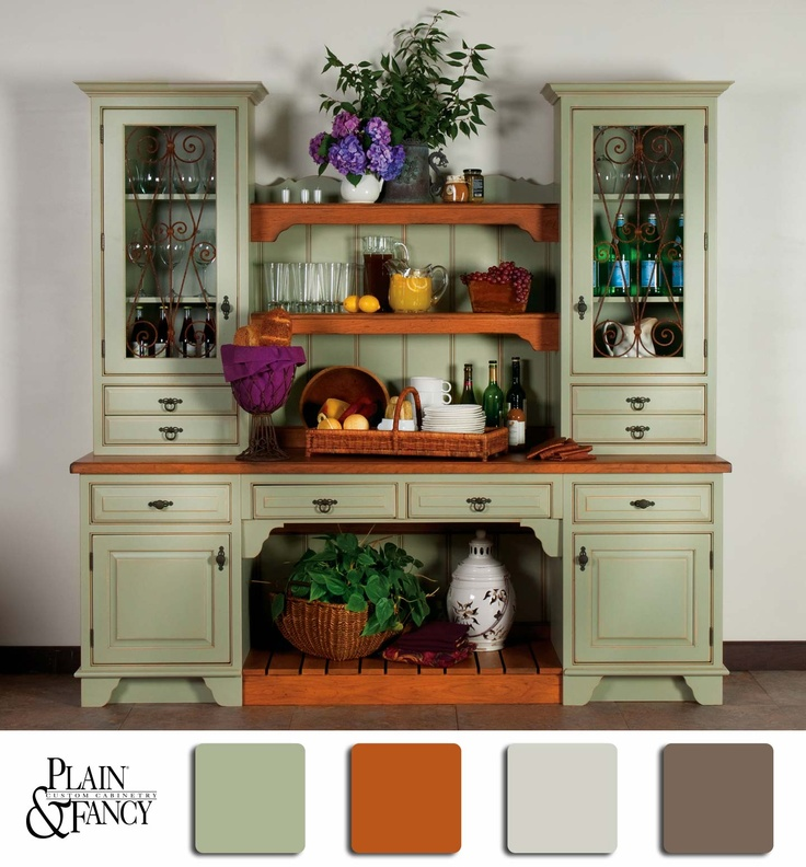 Green Kitchen Hutch: 116 Best Images About ™� Colors That Inspire On Pinterest