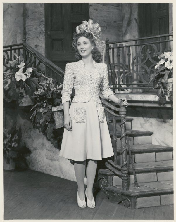 Betty Garrett in a scene from the stage production Something for the Boys 1943
