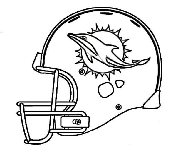 Miami Dolphins Helmet Coloring Nfl Page Football Coloring Pages Dolphin Coloring Pages Dolphins Football