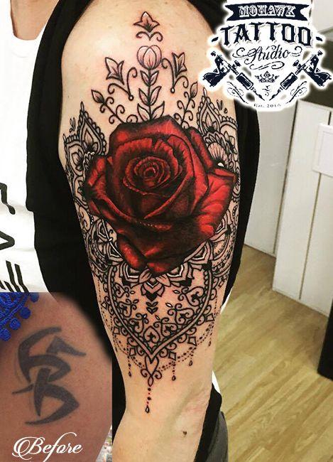 Rose and mandala cover up tattoo  #glasgow #glasgowtattoo #paisleytattoo #scotland #paisley #mohawktattoo #tattoo #inked #ink #newtattoo #tattooed #tattoolife #inkedplus #thedailytattoos #myworldoftattoos #myworldofink #postmytattoo #theinkcollective #tattooedmen #tattooed_body_art #tattooartist #instatattoo #amazingink #uk #tattedup #inkedup #tattoooftheday #girlswithtattoos