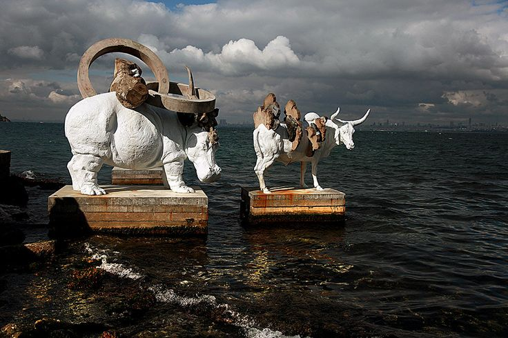 city sea water blue clouds turkey bienal sergi İstanbul Büyükada 14. istanbul bienali