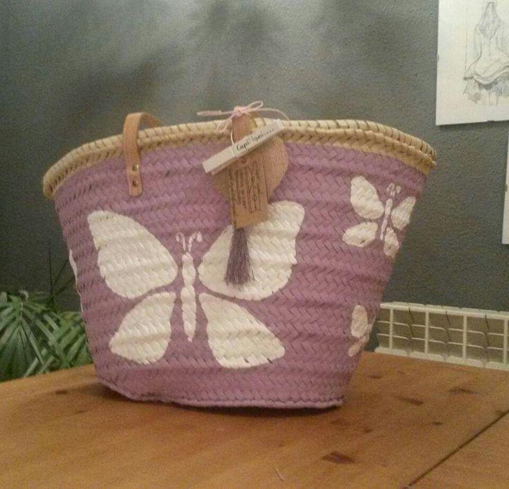 Capazo mariposas Capd'igual@hotmail.com Capazos personalizados por encargo