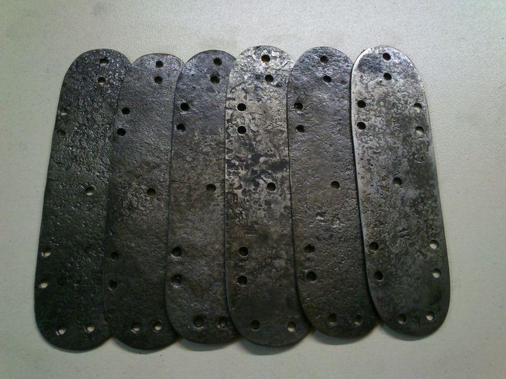 Пластины для доспеха из Бирки Plates for an armor from the Birka