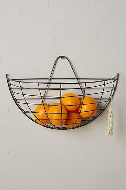 Anthropologie Wire Hanging Basket