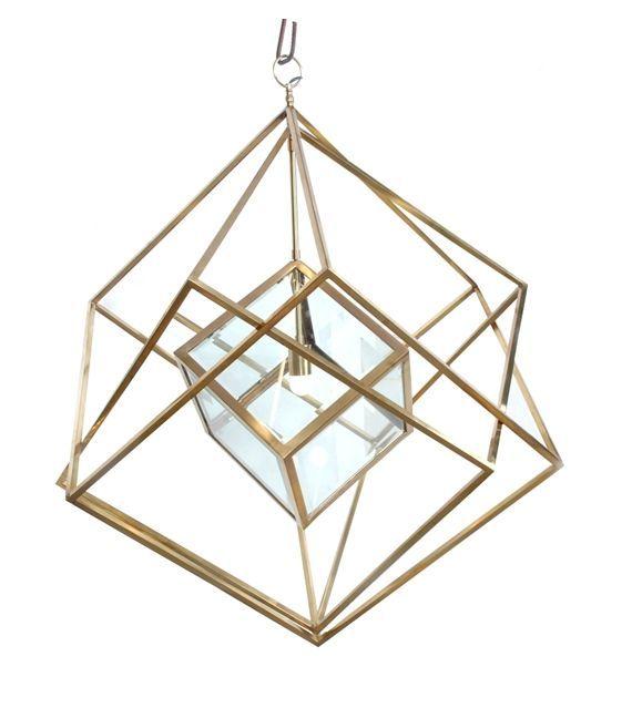 Van Roon Living Hanglamp Langley 95x110 cm glimmend goud