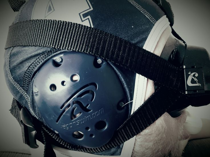 Super OCCHIO mask and custom strap incl snorkel holder made for underwaterrugby !