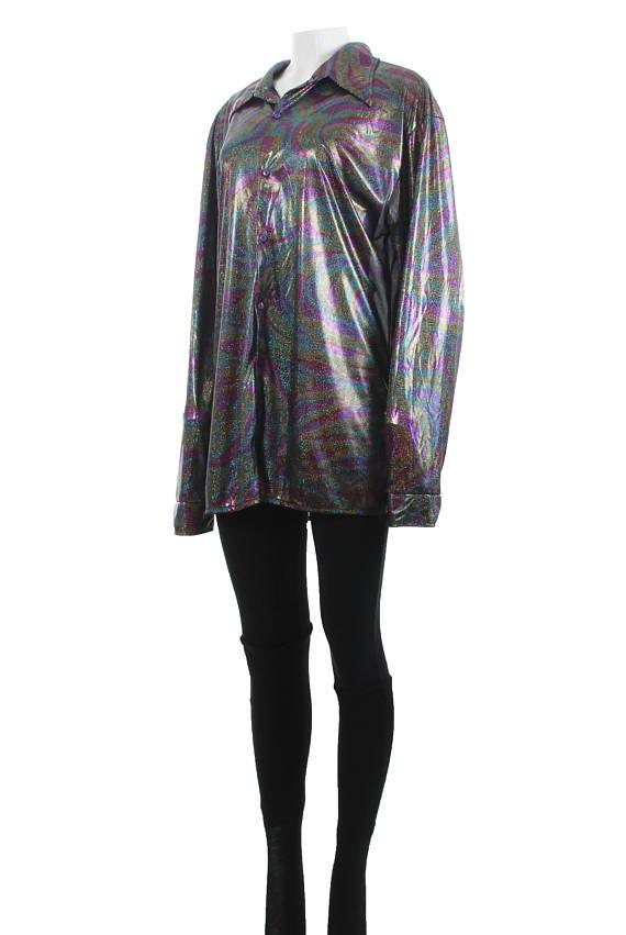 1990s Vintage Black Velvet Stretch Rainbow Glitter Dress