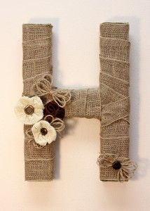 Burlap Monogram – Make It: Fun