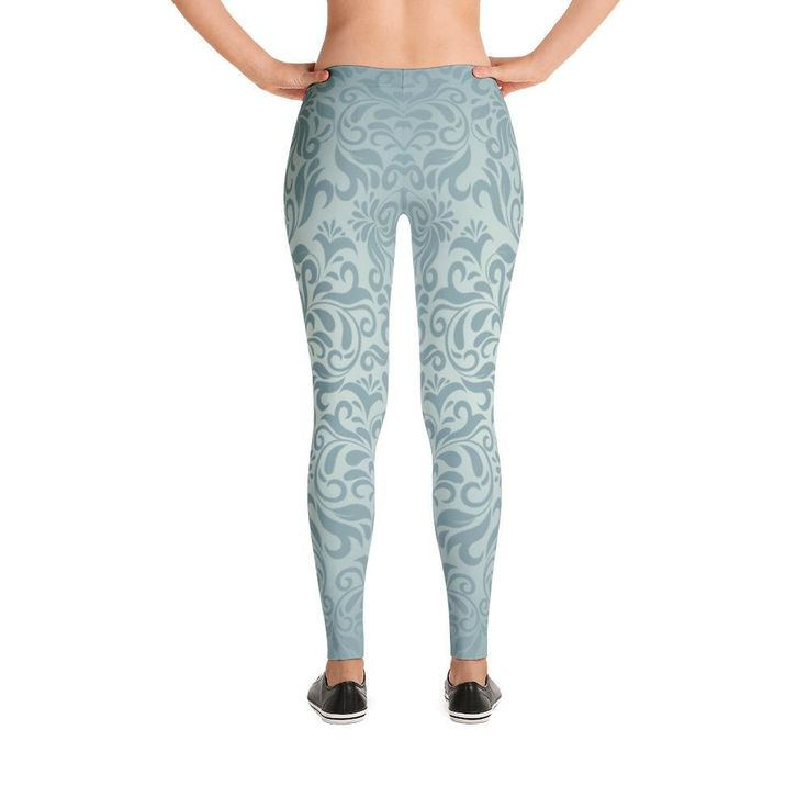 Damask At Dusk Yoga Leggings, Women's Pants for Workouts and Running