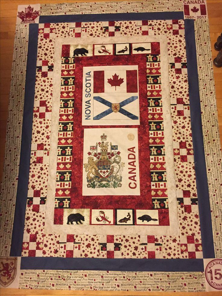 Canada 150 quilt Nova Scotia edition