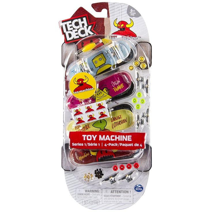 Tech Deck 96mm Fingerboards 4-Pack Toy Machine