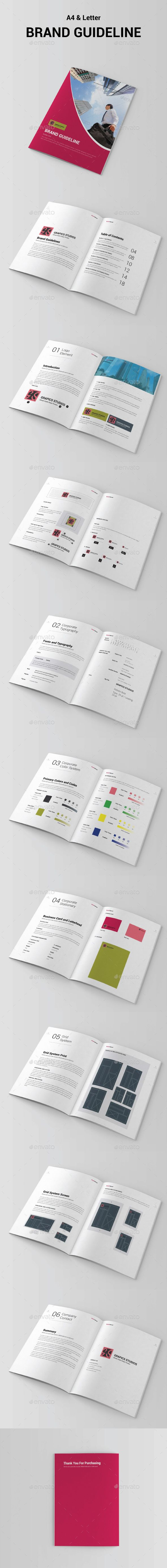 Brand Manual Brochure 20 Pages Template InDesign INDD #design Download: http://graphicriver.net/item/brand-manual-template/13167069?ref=ksioks