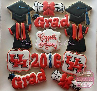 UH Graduation Cookies, University of Houston Graduation Cookies
