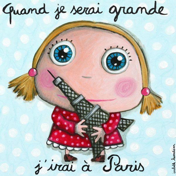 Tableau Paris fille Isabelle Kessedjian