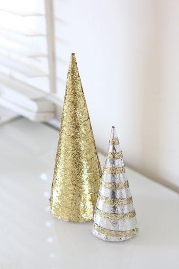 Glitter Christmas Tree DIY #holidayentertaining