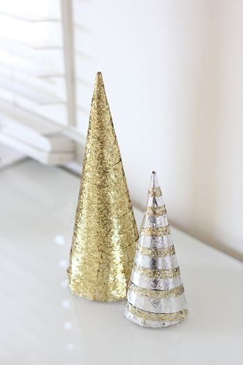 DIY Glitter Christmas Trees