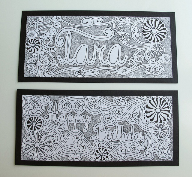 1000+ Images About Cards Birthday Zentangle Doodle On