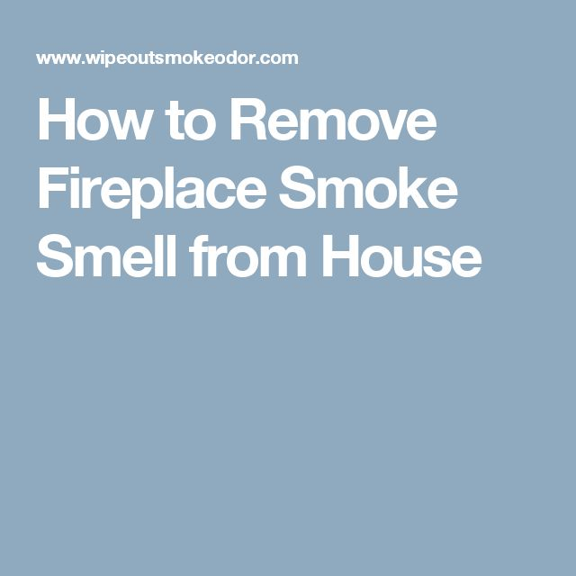 how to take out smoke smell from house