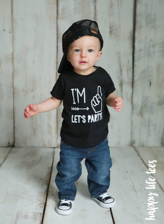 ff2b03a6a2d First Birthday Shirt First Birthday Im One Lets Party
