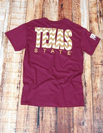 We love trends. We create trends. So make Texas State trendy while showing your BOBCAT pride in this adorable chevron tee!