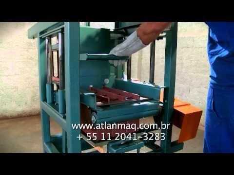 Maquina de fazer Blocos de concreto ATLANTICA MAQ